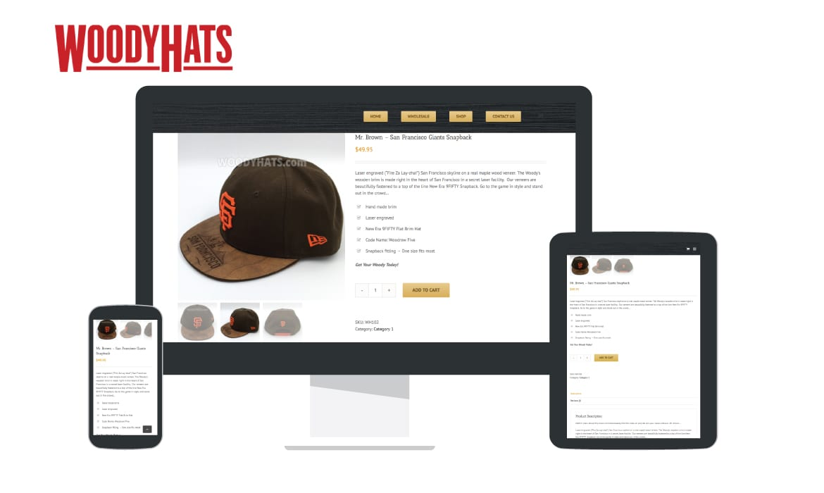 Project: Concept, Prototype, Design, and Ecommerce Site —> Award Winning Hat Company