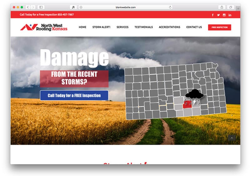 Project: Northwest Kansas Roofing Landing Page