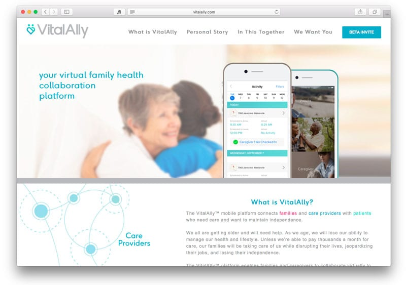 Project: VitalAlly Landing Page